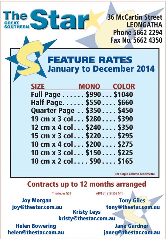 Feature Rates 2014