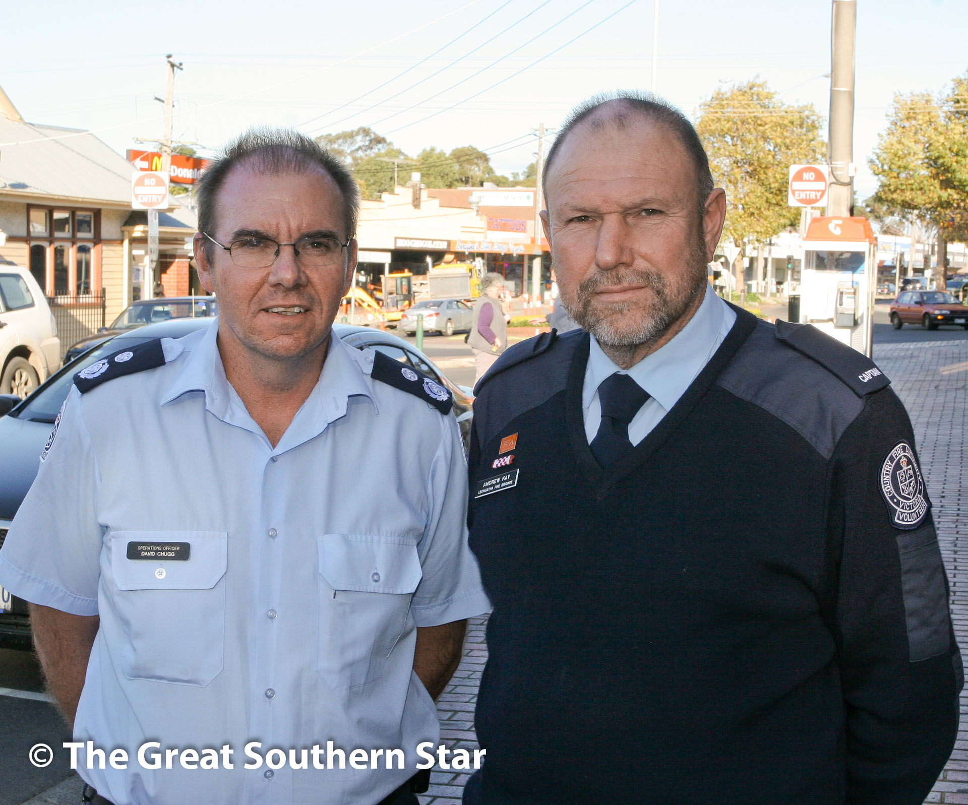 Cfa station rejected the star not happy cfa acting operations manager david chugg and leongatha cfa captain andy kay after yesterdays decision altavistaventures Choice Image