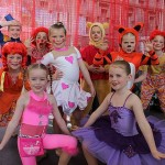 Toy story: ready to dance their toy box dance Great Southern Star Eisteddfod on the weekend were, back from left, Ruby Adkins, Alex Webb, Siobhan Cooper and Georgia Burns, Middle from left: Charli Burns, Jade McLennan and Tarra Funnell. Front: Taya Cameron and Maya Williams.