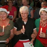 Dressed up: looking the festive part were Inverloch ladies Rhonda Davies, Dorothy Riddiford and Anne Hardy.