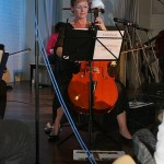 Hear that sound: Di Grimmond of Stringz Costero on cello.