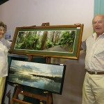 Clear focus: Port Welshpool photographers Gloria and Keith Haycroft inspired visitors with their local photography.