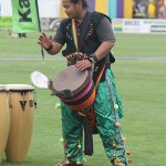 Entertainment galore: a variety of shows drew large crowds throughout the day on Saturday, including a drumming performance.