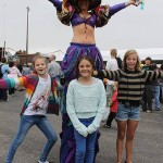 What a great show: up on stilts was Leonie Deavin from Nova Star Productions, along with Charlie Redpath from Wonthaggi, Pippa Andrews-Worthy from Dalyston and Hayley Dowling from Wonthaggi.