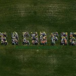 CSG free!: more than 450 people spell out WE R CSG FREE in a human sign to mark the declaration of the first CSG free community in Victoria.