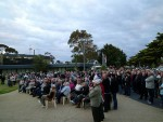 Not happy: some 700 people attended the Public Hospital rally in Cowes on Friday evening, many outraged no invited local politicians turned up.