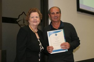 •Cr Jeanette Harding and Tony Vanin, Foster Cricket Club.