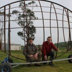 Fantastic fish: Andrew McPherson and Ray Jones are bringing two famous fish from the 2000 Commonwealth Games back to life as one giant sculpture for Fish Creek.