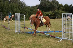 Interstate representative: Maddie Hayes of Hobart, Tasmania, is a member of the Tarwin Lower Pony Club while visiting grandparents Tony and Elizabeth Landy of Walkerville. She learnt showjumping on board Sally.