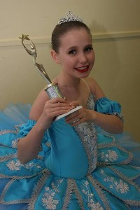 Major event: Alyssia Stephens of Maffra won her first trophy, taking out the tap solo, nine to under 11 class. She attends Leaps and Bounds dance school, Sale.