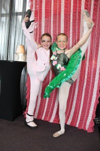 Skilful: Belle Cocksedge and Yasmin Duursma show off at the Star's Leongatha Eisteddfod.