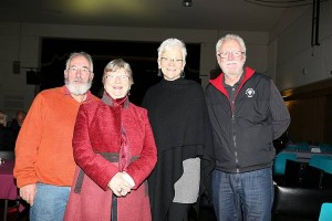 Night out: from left, Clive and Marg Lynn from Berrys Creek and Elaine and Ian Snell from Dumbalk were looking forward to the Paul Kelly concert at Memorial Hall last week.