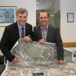 Taking shape: South Gippsland Shire Council's strategic planning and development manager Paul Stampton (left) and VicRoads acting regional director Brendan Pauwels inspect the alternate route design.