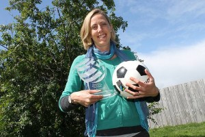 Top coach: Leonie Gilbert has been named the Victorian Football Federation's female coach of the year.