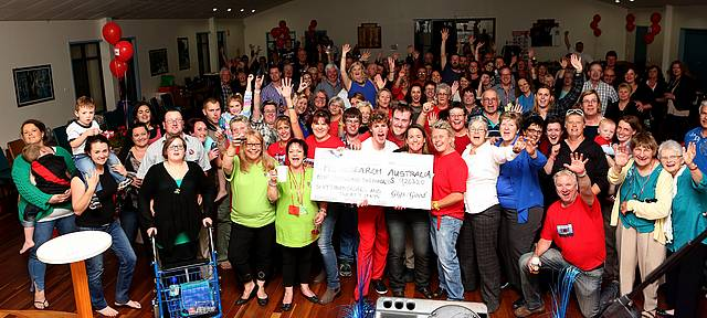 Group effort: Leongatha is full of support for the MS research foundation.