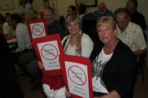 No road scheme: Mark Langdon, Dimitra Kassidras and Sue Renehan, all of Cape Patterson, object to the Cape Paterson special charge scheme.