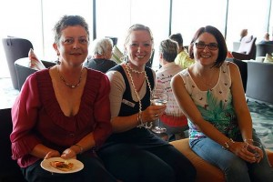 Come along: from left, Kaz Hughes, Megan Vuillermin and Lisa Brelsford enjoy the benefits of being part of the Southern Business Women's Network.