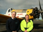 Leongatha airfield: South Gippsland Shire Council's Cr Nigel Hutchinson-Brooks, who was involved in the aviation industry, and Woorayl Air Services CEO Barry Foster are hoping Chinese pilots will be trained in South Gippsland.