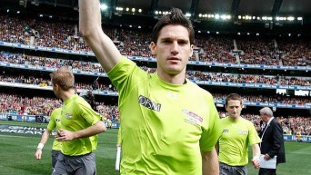 All Australian: Leongatha born and educated, Matt Stevic was named for the 2014 AFL All Australian following a year which culminated in his being named one of the three grand final field umpires.
