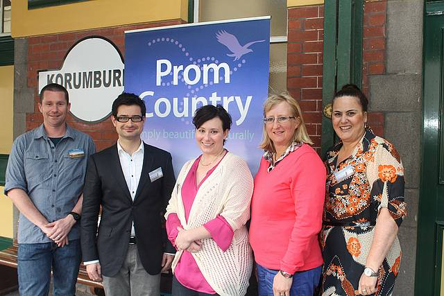 Simply beautiful: from left, Brent Moran, executive member of Prom Country Regional Tourism; Philip Botte, chair of Prom Country Regional Tourism; Christine Legg, executive officer; Rachel Brown, executive member; and Danielle Todaro, tourism coordinator for council.
