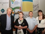 Collaboration: from left, seasonal climate scientist Graeme Anderson, Jill Vella, the Department of the Environment and Primary Industry's Ashley Hall and Skye Radcliffe-Scott at the initial Climate Change Forum at the Inverloch Community Hub to establish a network between farmers and local and state government.