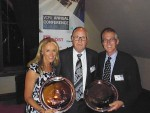 Success: from left, Helen Bowering with the winning Yarram Standard journalism award (under 3,000 circulation category), new Victorian Country Press Association chairman Rob Duffield of the Swan Hill Guardian and Tony Giles with The Star's journalism award (3,000-10,000 circulation category).