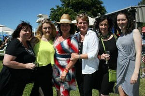 Lovely ladies: from left, Gippsland ladies Belinda Taylor, Millie Taylor, Julie Jacobs (Inverloch), Alison Darling, Michelle Darling and Laura Darling looked stunning in their race day outfits at Stony Creek on Saturday.