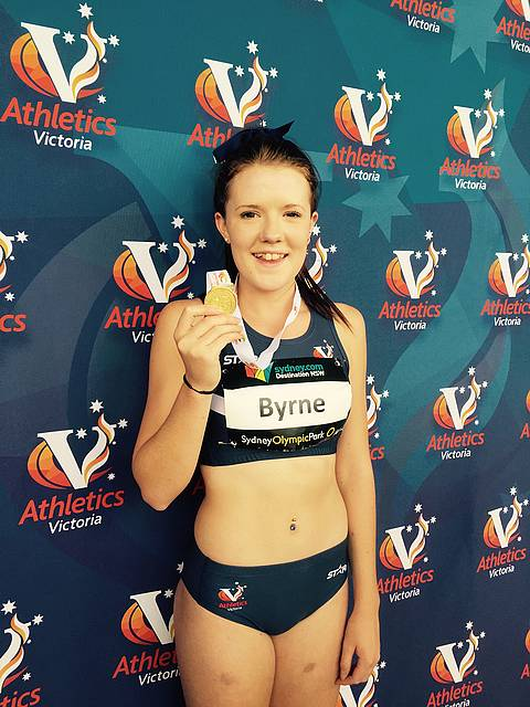 Gold medallist: Leongatha's Christine Byrne was thrilled with her achievement at the Australian Junior Championships in Sydney recently.