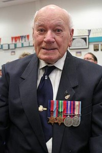 For the fallen: Bob Burdekin of Mirboo North attended the Anzac Day service at Mirboo North Secondary College.