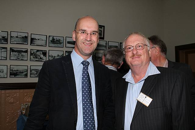 Great turnout: Gippsland South MLA Danny O'Brien (left) with Korumburra Business Association treasurer Brian Hess at the recent community connect event attended by more than 120 small business owners.