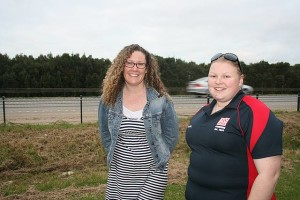 We want action: from left, Lang Lang's Laura Ellett and Poowong's Krystal Clark want to see the South Gippsland Highway between Leongatha and Lang Lang developed into a dual highway. VicRoads recently installed a traffic counter on the road outside Ms Ellett's property.