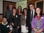 Happy members: from left, Korumburra Business Association members Vince Sgarioto, David Amor, Jenny Rowe, Heidi Marshall, Rowena Ashley, Steve Bone and Lucy May Mertens were thrilled with the response to the KBA's first community connect event last Wednesday, which attracted more than 120 people.
