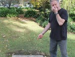 Not so sweet: Koonwarra's Denis Hawkins is concerned the stink affecting his home and business is sewerage and wants something to be done.