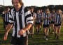 Milestone: Dalyston footballer Michael Kraska was cheered off the ground following the big win against Korumburra Bena. Left, Kraska kicked 10 on Saturday and  has now amassed 104 for the season.