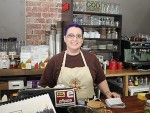 Sweet success: Jodie Clarkson worked the public holiday at Leongatha's Sweet Life Cafe with tourists driving through the town choosing to stop at the Bair Street business.