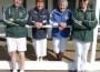 Give it a go: from left, Jack Williams, Sandra Birch, Ruth Stevenson and Margaret Fraser encourage one and all to come along to the Leongatha Croquet Club and give the sport a try this Saturday.