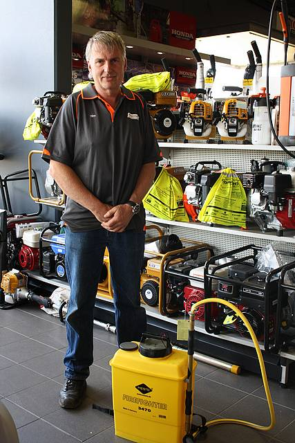 First response: Tim Marriott of Marriotts MPE with some of the fantastic products available instore now for your firefighting requirements.  He can offer the best in reliable firefighting pumps and knapsacks from a great range of brands.