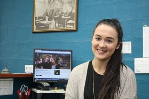 Young academic: Sarah McCahon is busy enrolling in her subjects for a Bachelor of Science degree at the University of Melbourne where she will commence study next month.