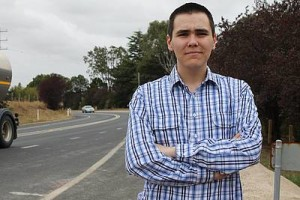 Not enough: Leongatha North resident David McAlpine said the current road safety works at Crightons Hill do not go far enough. He would like to see the speed limit permanently reduced.