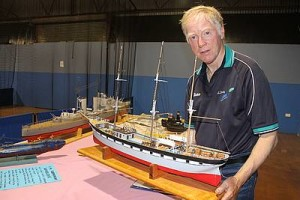 Model maker: Korumburra South's Allan Odgers held a one day exhibition of his model boats last Tuesday, January 19, which he hoped would increase local interest in the art of model building.