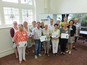AusNet winners: from left, Corinella Bowling Club, SalvoCare Eastern Youth Services, Dalyston Hall Committee, Rhyll Community Association, Rhyll Mechanics Hall and Park Committee and Inverloch Stars Soccer Club were recipients of the AusNet Energising Your Community Grants at Bass Coast Shire Council's community grants presentation last Tuesday, February 2.