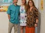 All relative: Robert and Jen Manhal and their daughter Genevieve (centre) are now exhibiting their show Water and Earth at Meeniyan Art Gallery.