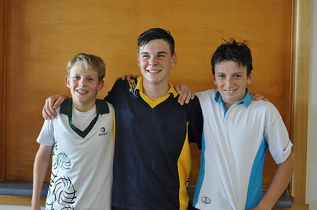 More boys: three of the Under 15 boys pictured, Harvey, Angus and Ethan, are participating in LDNA competition.