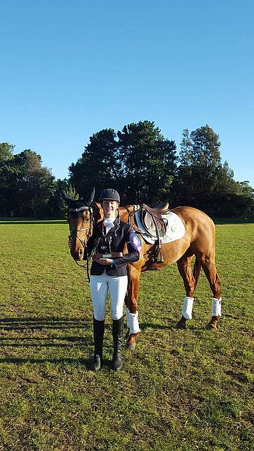 Young gun: Kardella eventer Molly Barry was thrilled to not only come fifth in the CCI two star class in the recent Melbourne International Three Day Event, but to also receive the inaugural Caitlyn Fischer Memorial.