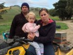 Frustrated: from left, Mirboo farmers Kris, Macie and Amanda Thomas have been less than impressed with actions of dairy processor Fonterra in recent months.