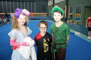 Fun day: from left, Hattie as Fancy Nancy, Jacoa as Harry Potter and Lincoln as Peter Pan at St Laurence's Primary School's Book Week event.
