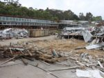 Destruction: TS Constructions has begun the demolition of a major section of Korumburra Secondary College. In its place will rise will be a centre of excellence with few equals anywhere. College principal Abigail Graham is looking forward to the benefits her students will gain from a 21st century learning environment.
