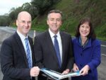 Back then: from left, Nationals MPs Gippsland South MLA Danny O'Brien, Australian Infrastructure and Transport Minister Darren Chester and Eastern Victoria Region MLC Melina Bath welcome the Federal Government's election commitment to the South Gippsland Highway in June this year.