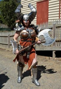 That's barbaric: Tristyn Smith from Korumburra got into the spirit of GeekFest at Coal Creek, Korumburra, last year, dressed as a barbarian woman.